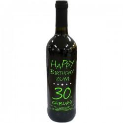 Swarovski Wein - Happy Birthday zum 30.