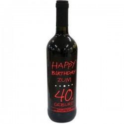 Swarovski Wein Happy Birthday zum 40