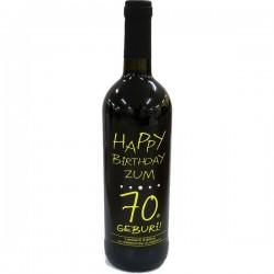 Swarovski Wein Happy Birthday zum 70