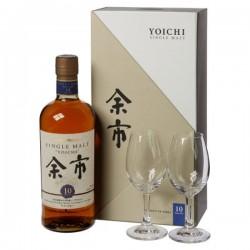 Nikka Yoichi 10 Years - Set mit Gläser